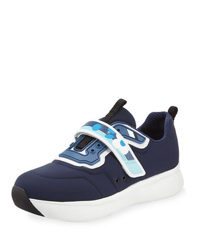 Grip-Strap Neoprene Sneaker, Navy