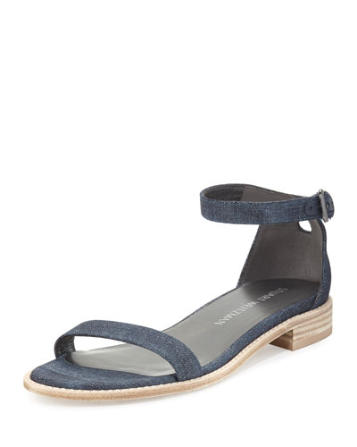 Nudistflat Denim Ankle-Wrap Sandal