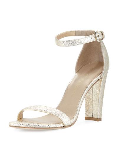 Walkway Foil Napa Ankle-Wrap Sandal