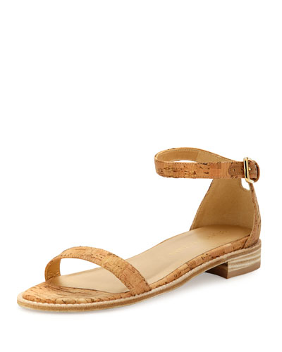 Nudistflat Cork Ankle-Wrap Sandal