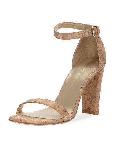 Walkway Cork Ankle-Wrap Sandal