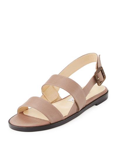 Deluxe Flat Slingback Sandal, Light Mocha