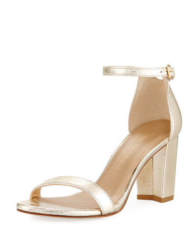 Nearlynude Metallic 55mm Sandal, Cava