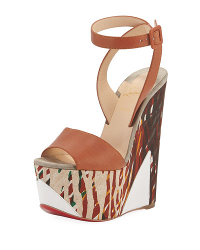 Tromploia 160mm Platform Wedge Red Sole Sandal