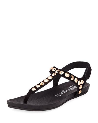 Judith Jeweled T-Strap Sandal