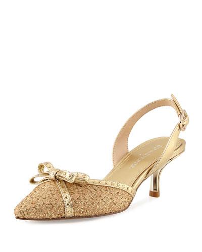 Dede Metallic Slingback Sandal