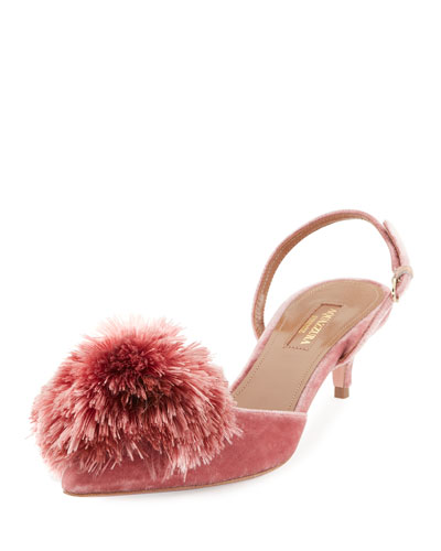 Powder Puff Pompom Pump, Antique Rose