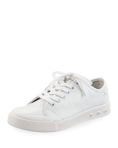 Standard Issue Lace-Up Low-Top Sneaker, White