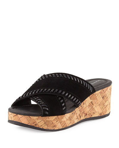 Savee Whipstitch Cork Wedge Sandal