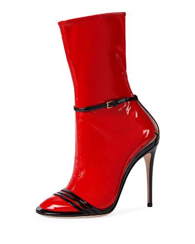 Ilse Patent 110mm Sandal, Black