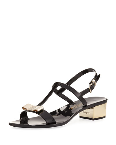 Jelly Flat Sandal, Black