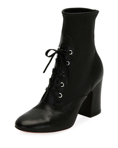 Palmer Stretch Napa Lace-Up Bootie, Black