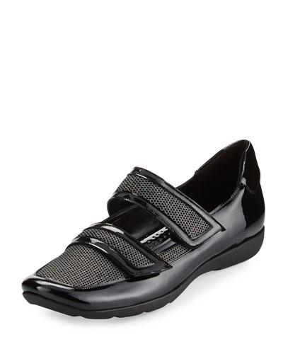 Gyan Mary Jane Grip Sneaker, Black