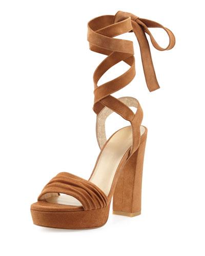 Backagain Suede Lace-Up Sandal