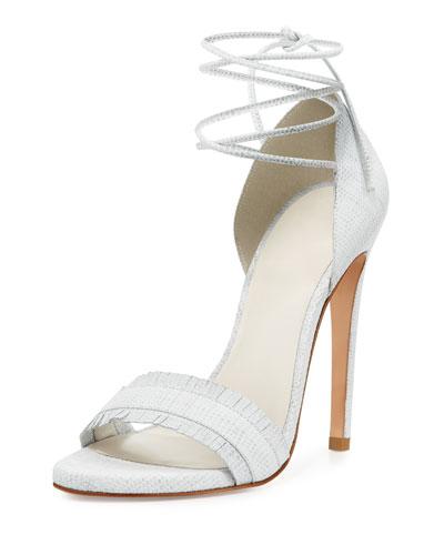 Nudewrap Ankle-Tie Sandal, White