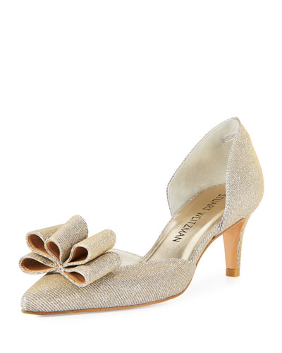 Babow Shimmery d'Orsay Pump, Silver