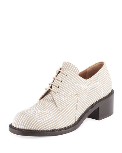Canvas Lace-Up 40mm Oxford