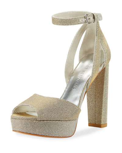 Hijinx Nocturne Chunky-Heel Sandal, Silver