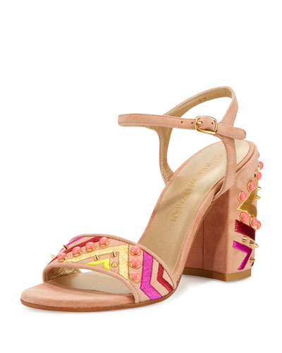 Both Embellished City Sandal, Naked