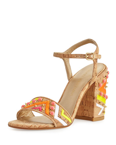 Both Embellished City Sandal, Natural