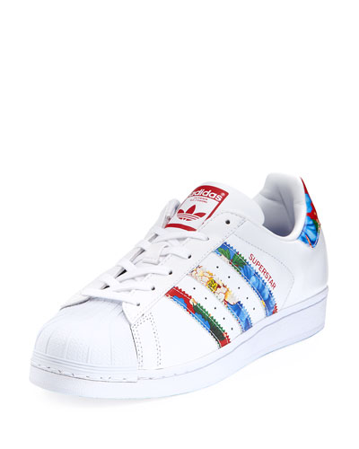 Superstar Multicolor Stripe Sneaker, White