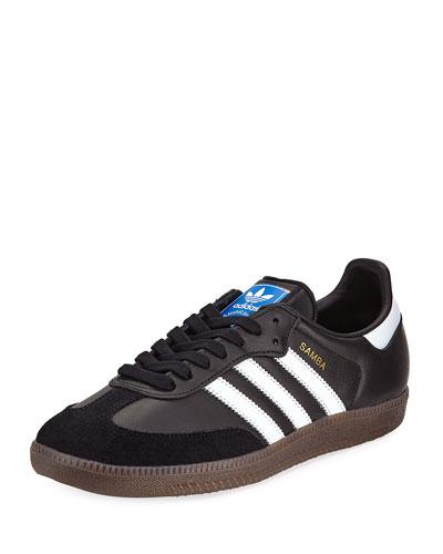 Samba Classic Leather Sneaker, Black
