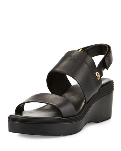 Thandie Grand II Banded Sandal, Black