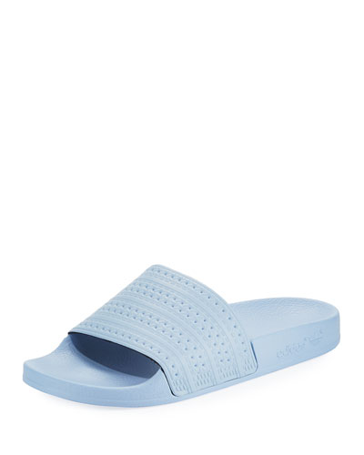 Adilette Striped Slide Sandal, Sky