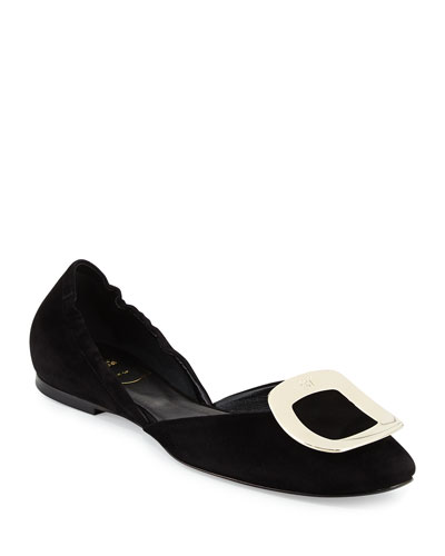 Ballerine Chips Suede d'Orsay Flat