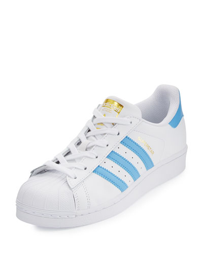 Superstar Original Fashion Sneaker, White/Blue