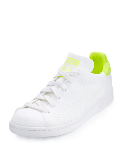 Stan Smith Primeknit Sneaker, White/Lime