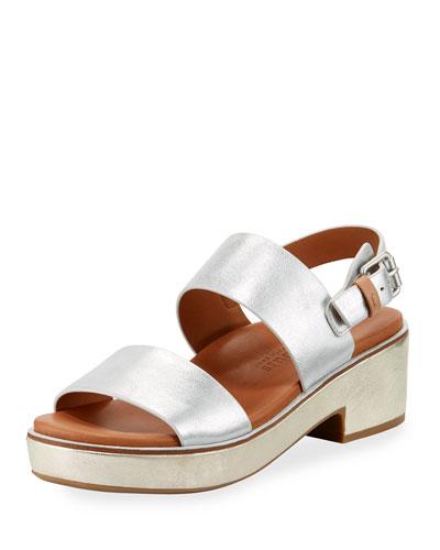 Talia Flatform City Sandal, Gold