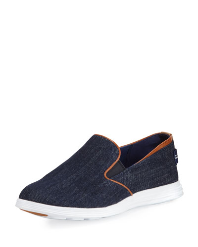 Ella Grand 2 Slip-On Sneaker, Blue Denim