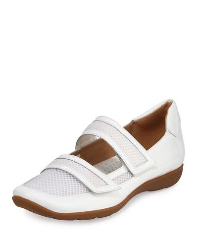 Gyan Mary Jane Grip Sneaker, White