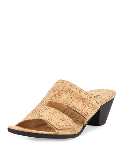 Paidyn Cork Low Slide Sandal, Beige