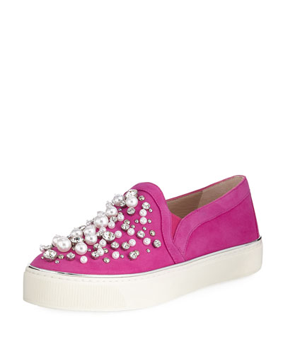 Decor Suede Embellished Sneaker