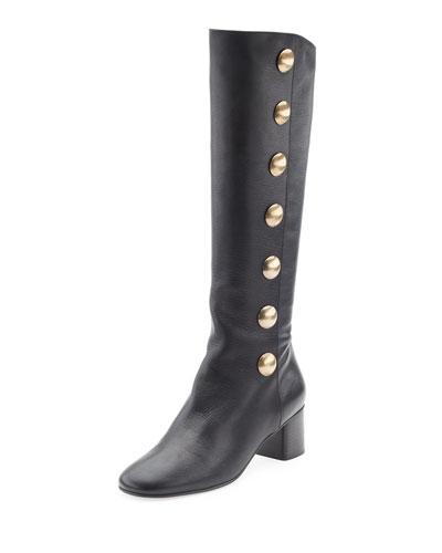 Orlando Button-Detail Knee Boot