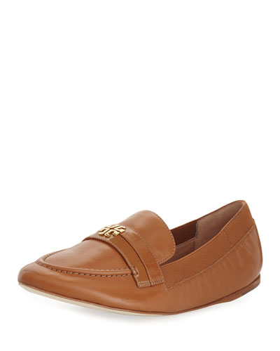 Jolie Stretch-Leather Loafer, Tan