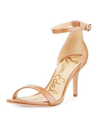 Patti Patent Evening Sandal, Sand