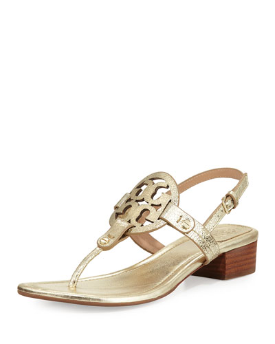 Miller Metallic 30mm Thong Sandal, Gold