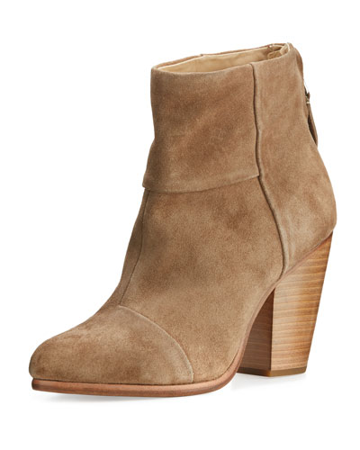 Classic Newbury Suede Ankle Boot, Camel