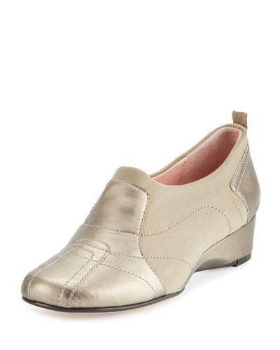 Kuss Demi-Wedge Slip-On Sneaker, Quartz