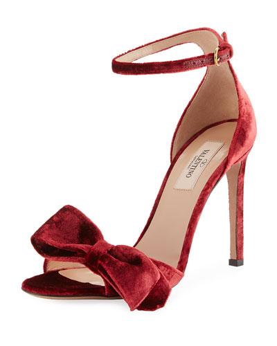 Velvet Bow Sandal