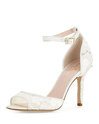 ideline lace sandal, off white