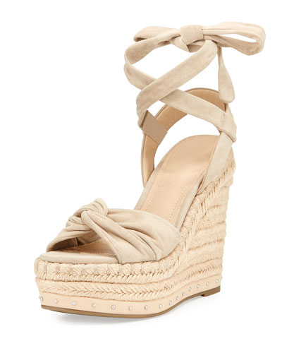 Grayce Espadrille Wedge Sandal, Light Natural