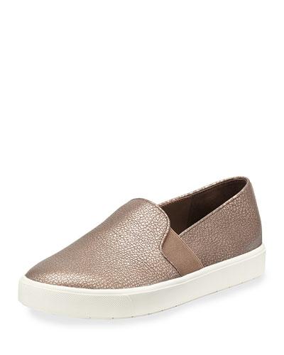 Blair Metallic Flat Platform Sneaker, Bronze