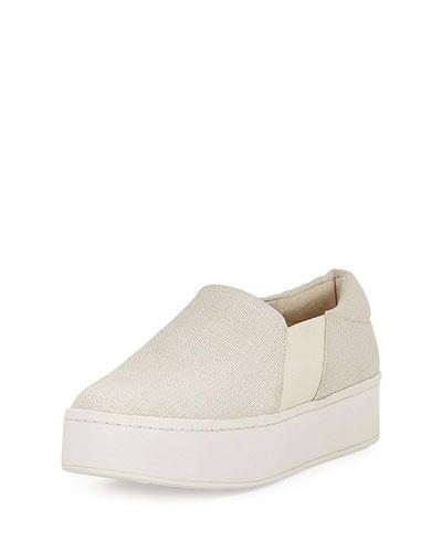 Warren Woven Platform Sneaker, White