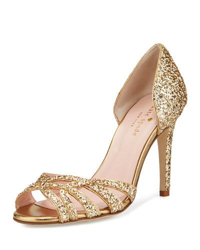 idaya d'Orsay glitter pump, Gold