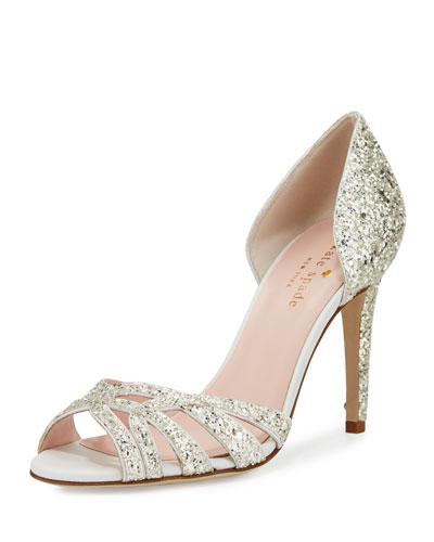 idaya d'Orsay glitter pump, silver