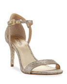 Simone Fabric Strappy Sandal, Gray